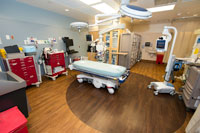 Interior photo of emergency room