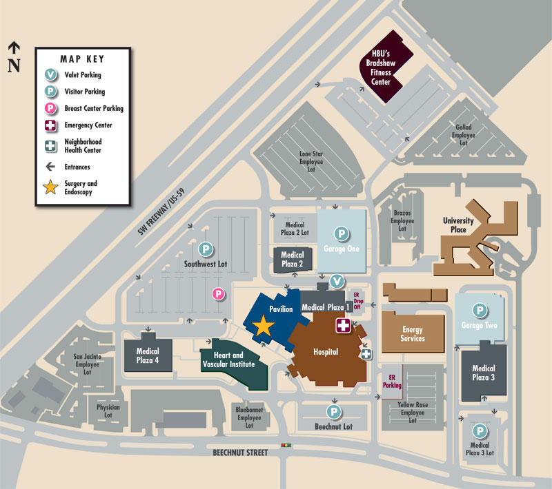Southwest Hospital Campus Map