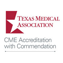 Texas Medical Association CME Accreditation with Commendation Logo