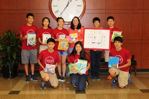 Memorial Hermann Southwest Volunteers with book donations