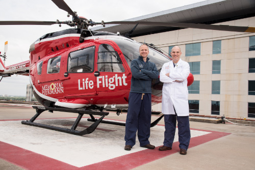 Drs. Stephens and Eaton with Life Flight