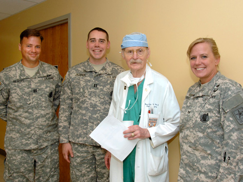 Dr. Duke with Army Visitors
