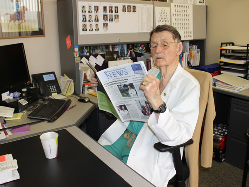 Dr. Duke at his Desk